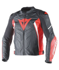 DAINESE G.AVRO D1 PELLE Nero/Rosso-Bianco Giacca moto