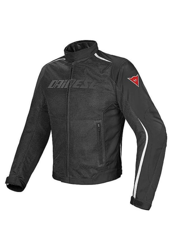 DAINESE G.HYDRA FLUX D-DRY NERO/BIANCO Giacca Traforata Impermeabile