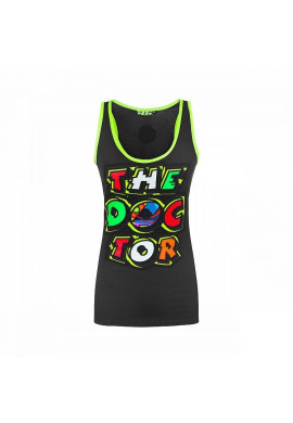 Tanktop VR46 The Doctor LADY Black/Yellow