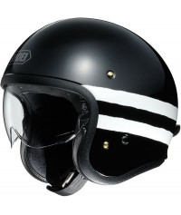 SHOEI J•O (J-O, JO) SEQUEL TC-5 (DARK BLACK-WHITE)