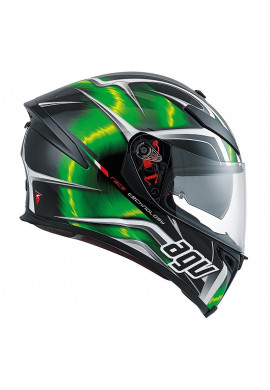 AGV K-5 HURRICANE BLACK/GREEN/WHITE