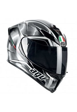 AGV K-5 HURRICANE BLACK/GUN METAL/WHITE