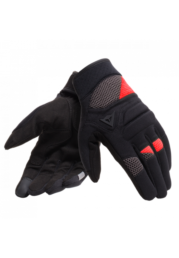 DAINESE Guanto FOGAL Unisex -Black/Red
