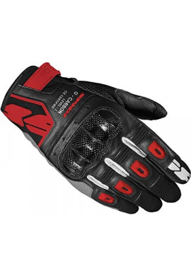 Spidi G-CARBON - GUANTO TECH LEATHER BLACK RED