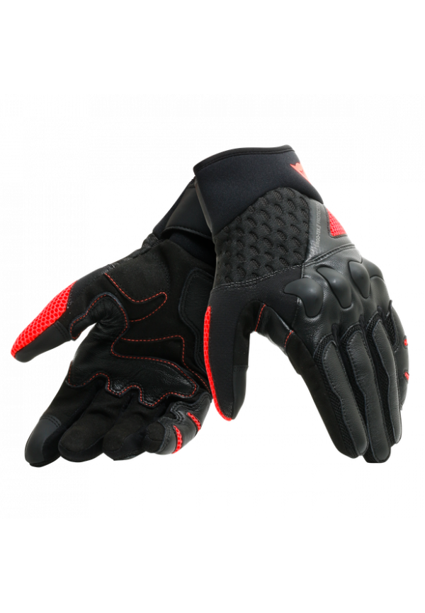 DAINESE Guanto X-MOTO Pelle Black/Fluo-Red