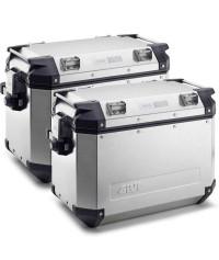 GIVI TREKKER OUTBACK 48LT (SET 2 PZ) Coppia Valigie Laterali in Alluminio