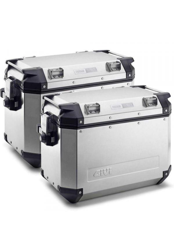 GIVI TREKKER OUTBACK 37LT (SET 2 PZ) Coppia Valigie Laterali Alluminio