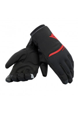 DAINESE Guanto PLAZA 2 D-DRY - NERO/ROSSO