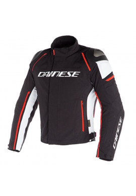 Giacca Dainese Racing 3 d-dry Black/White/Fluo-Red