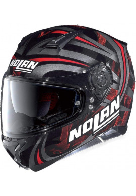 CASCO NOLAN N87 LEDLIGHT METAL BLACK RED