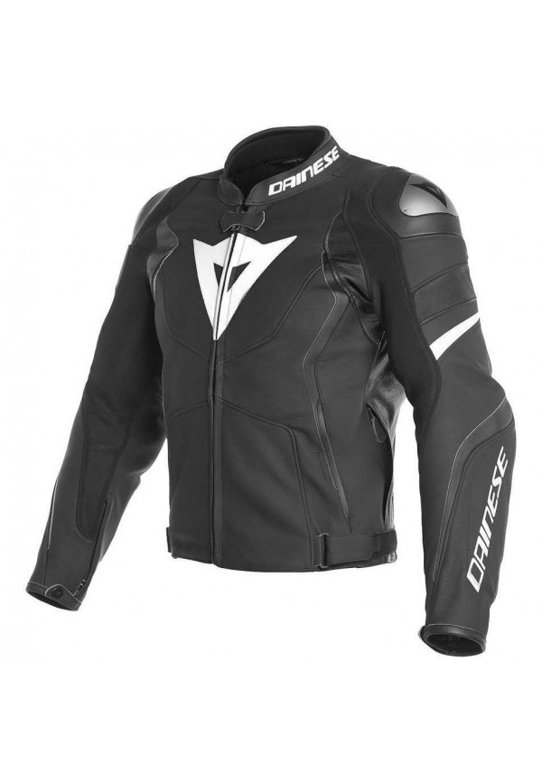 DAINESE AVRO 4 LEATHER JACKET Black/bianco