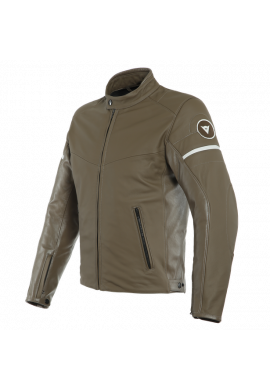 SAINT LOUIS DAINESE LEATHER LIGHT BROWN/WHITE